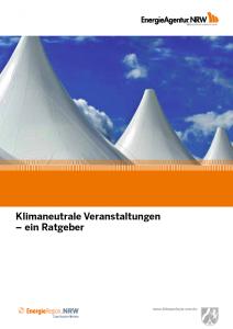 Klimaneutrale Veranstaltungen NRW