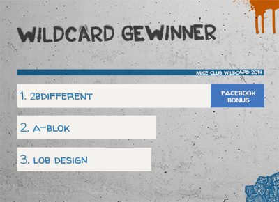 2bdifferent Gewinner der Wildcard für den MICE Club LIVE 2014
